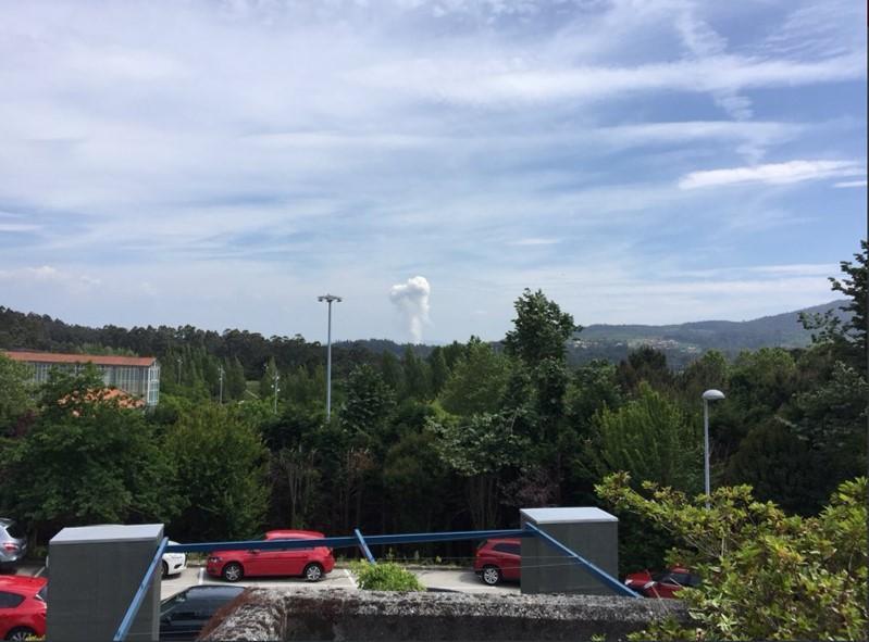 Explosão de pirotecnia em Tui - Galiza