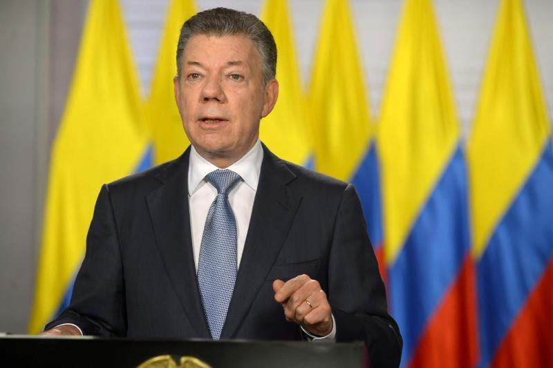 Juan Manuel Santos - presidente da Colômbia