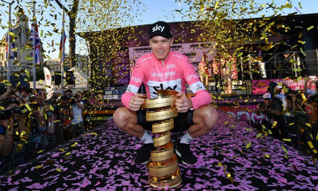 Chris Froome venceu o Giro (EPA/Daniel Dal Zennaro)