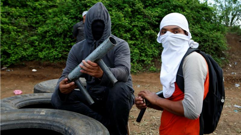 Protestos violentos na Nicarágua