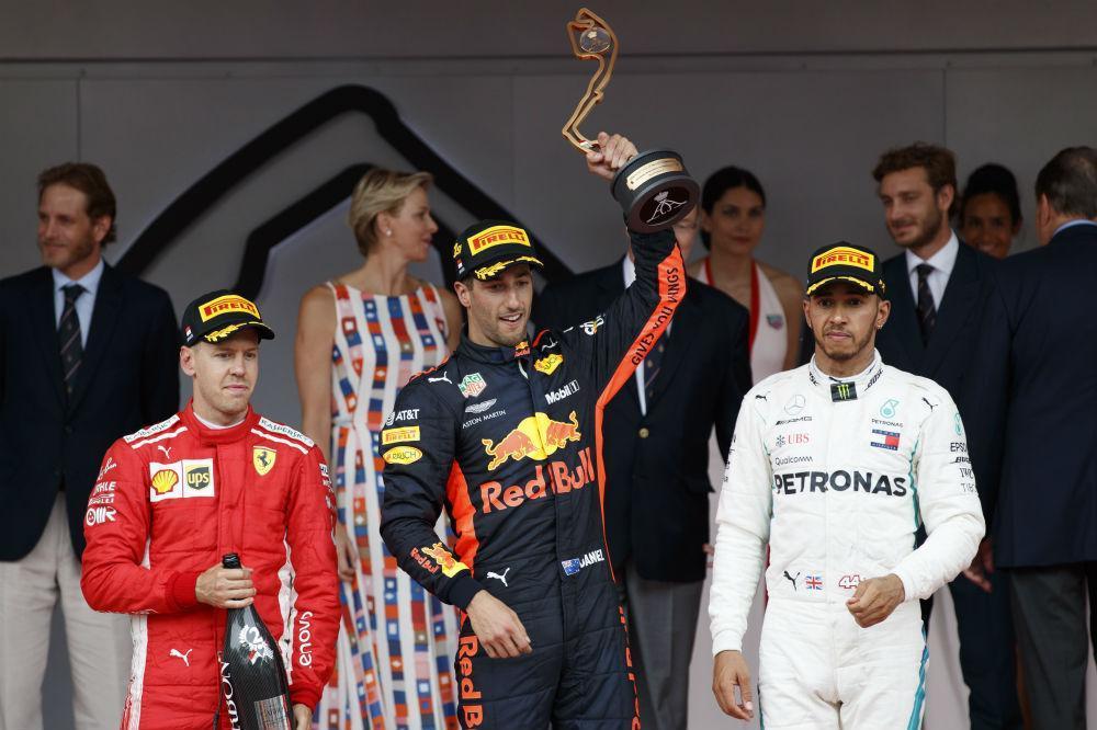 Pódio GP do Mónaco (Lusa)