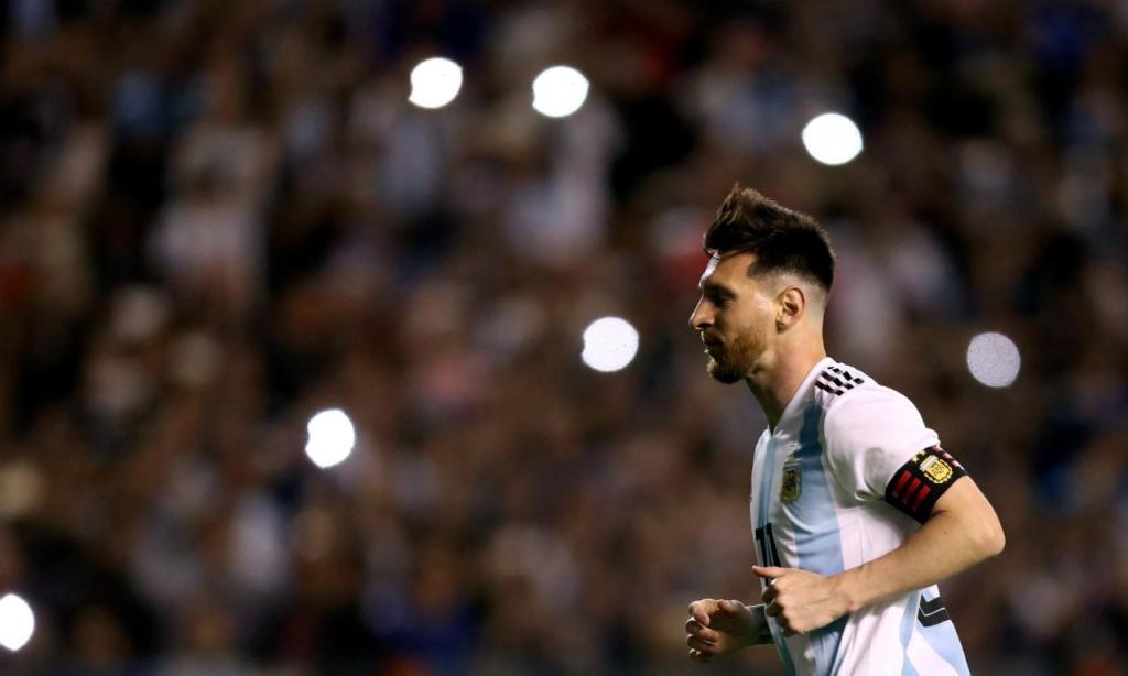 Lionel Messi no Argentina-Haiti