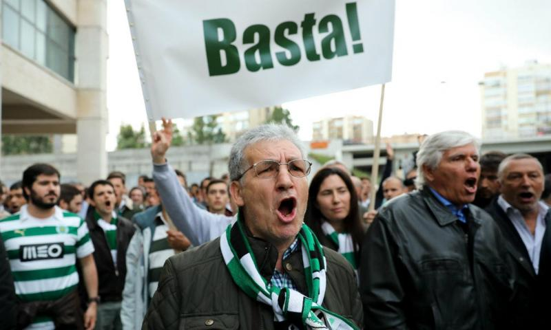 Manifestação em Alvalade