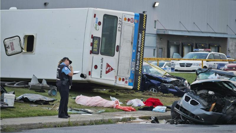 Canadá - Polícia junto a acidente (arquivo)