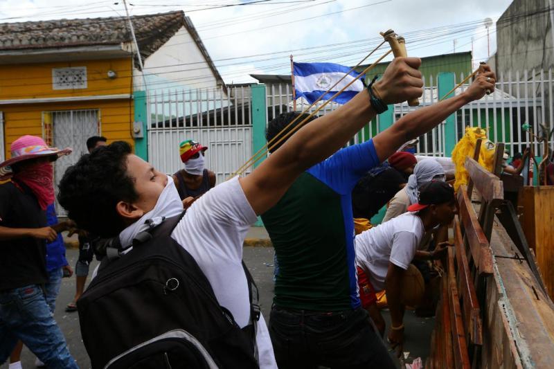 Nicarágua - confrontos em Masaya