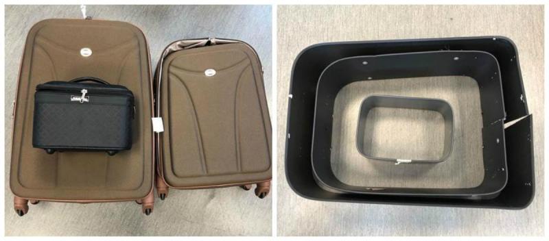 Apreensão de cocaína no aeroporto de Lisboa - malas de transporte