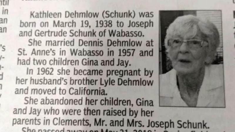 Obituário de Kathleen Dehmlow