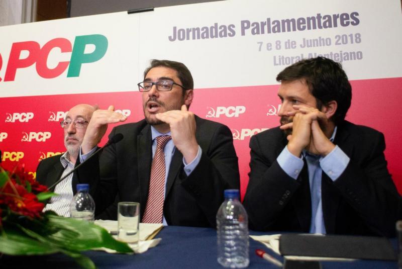 António Filipe, João Oliveira e João Ferreira (PCP)