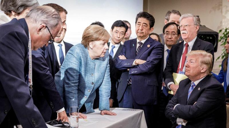 A cimeira G7 numa foto