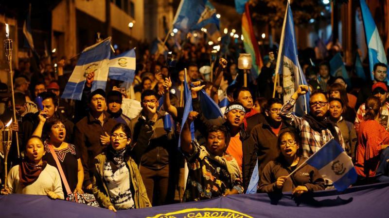 Protestos na Guatemala