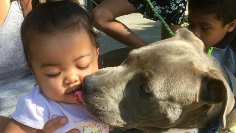 Sasha com a bebé de sete meses