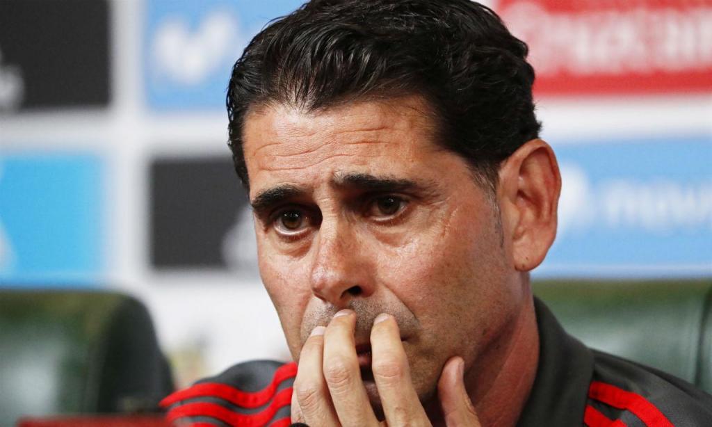 Hierro sucedeu a Lopetegui na seleção espanhola