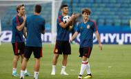 Treino da seleção espanhola