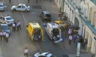 Taxi desgovernado provoca feridos em Moscovo