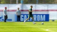 Cristiano Ronaldo e companhia a cem por cento no treino