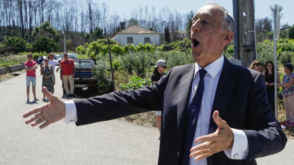 Marcelo Rebelo de Sousa em Pedrógão Grande e Castanheira de Pera