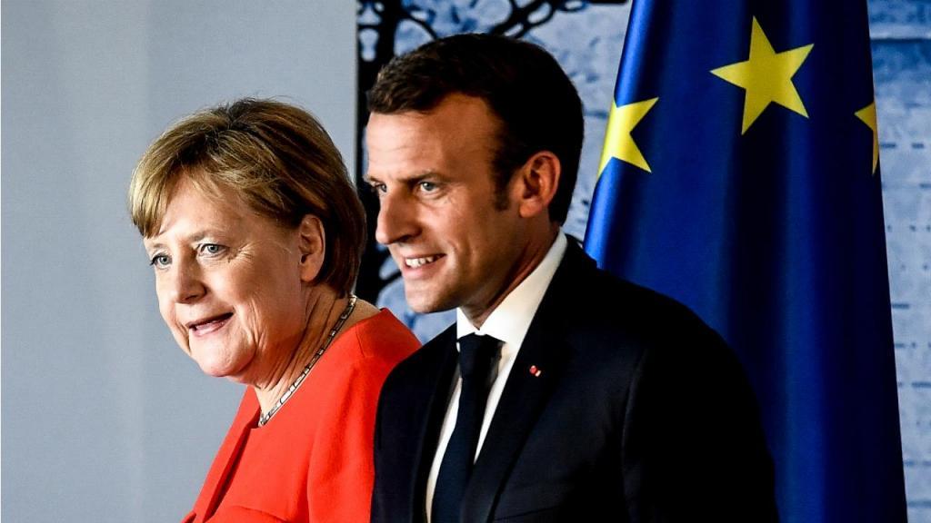 Angela Merkel e Emmanuel Macron