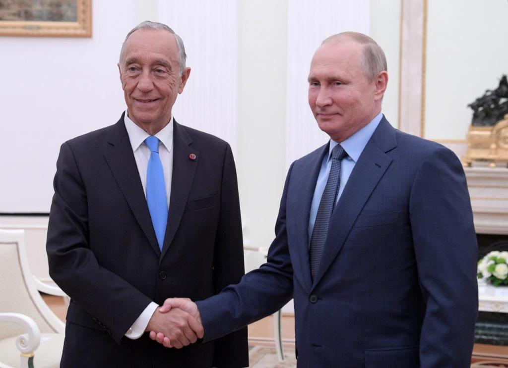 Marcelo Rebelo de Sousa e Vladimir Putin