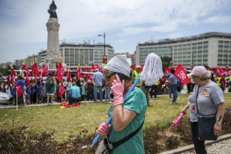 Manifestação trabalhadores da limpeza
