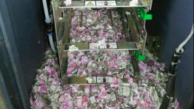 Rato destrói 7.500euros euros dentro de multibanco
