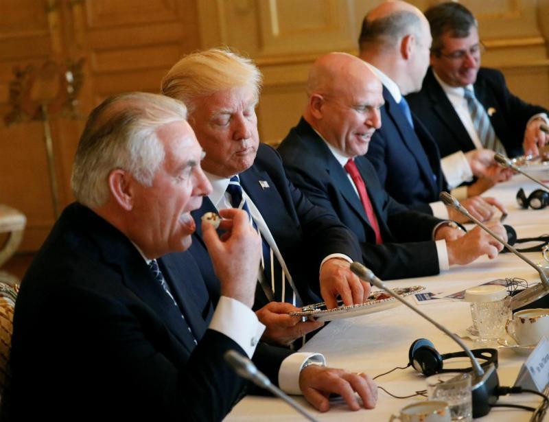 Rex Tillerson (ex-Secretário de Estado) e Donald Trump