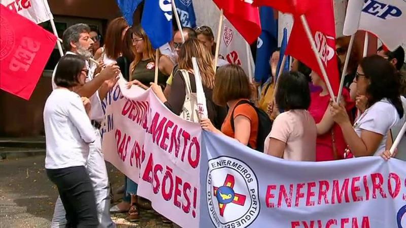 Greve dos enfermeiros deixou serviços de saúde a meio gás