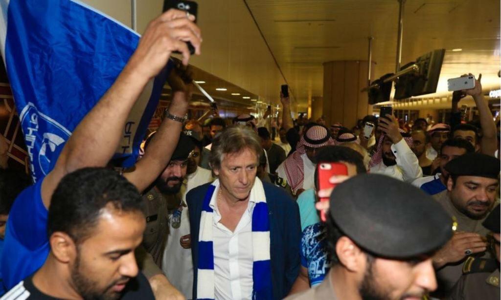 Chegada de Jorge Jesus à Arábia (foto: Al Hilal)