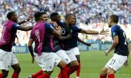 Mbappé bisou frente à Argentina