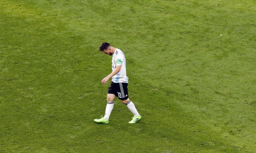 Messi desolado