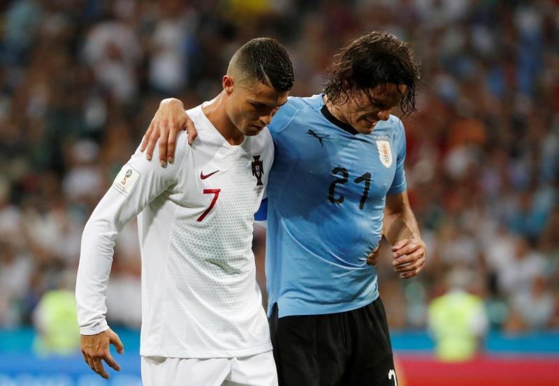 O gesto de fair-play de Ronaldo no Uruguai-Portugal