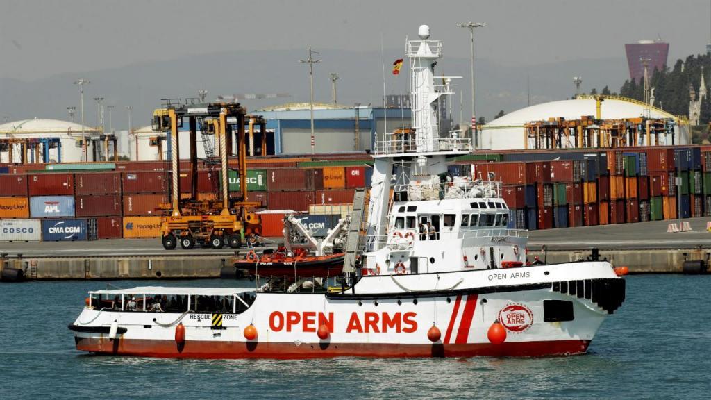 Navio Open Arms da ONG catalã Proactiva