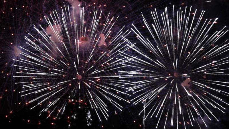 Fogo de artifício no 4 de Julho - Washington