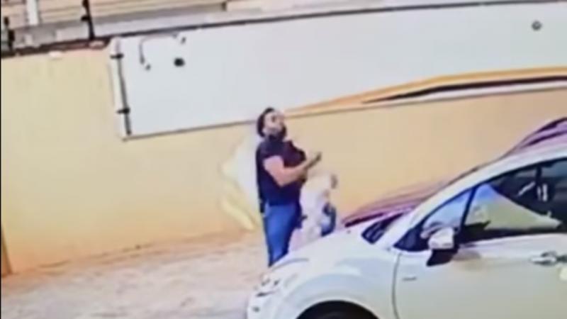 Homem salva cadela