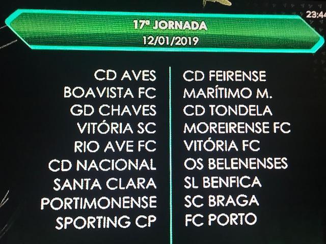 Calendario Primeira Liga.Liga 2018 19 Todo O Calendario Da 1ª Volta