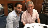 Luís Filipe Vieira com o presidente do Al Hilal (twitter)