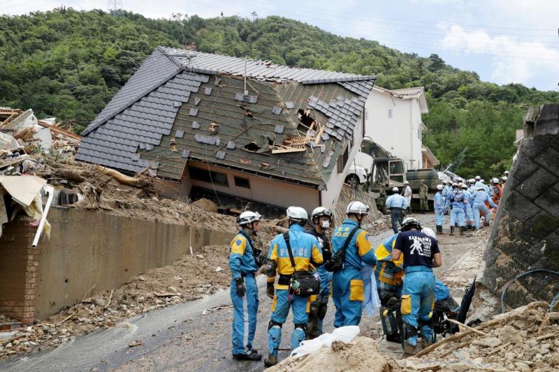 Mau tempo no Japão faz dezenas de mortos e desaparecidos
