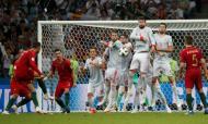 Do luxo de CR a abrir à trivela de Quaresma. Ao dia 2 do Mundial o primeiro grande jogo e muito Ronaldo. Quase só Ronaldo, aliás, um hat-trick para a história a culminar naquele livre de sonho para o 3-3 final com a Espanha. O Mundial de Portugal seguiu com novo golo de Cristiano na vitória sofrida sobre Marrocos, antes do empate com Irão, de onde fica o outro momento para recordar da passagem de Portugal pela Rússia: a trivela de Quaresma.