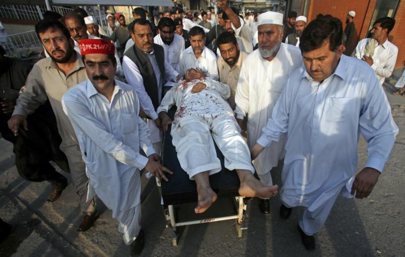Peshawar - Paquistão - atentado em comício do Awami National Party (arquivo)