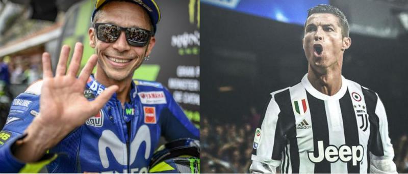 Valentino Rossi e Cristiano Ronaldo