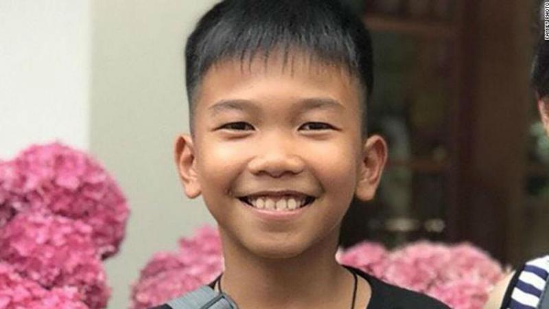 Chanin Viboonrungruang, o mais novo dos jovens resgatados de gruta na Tailândia