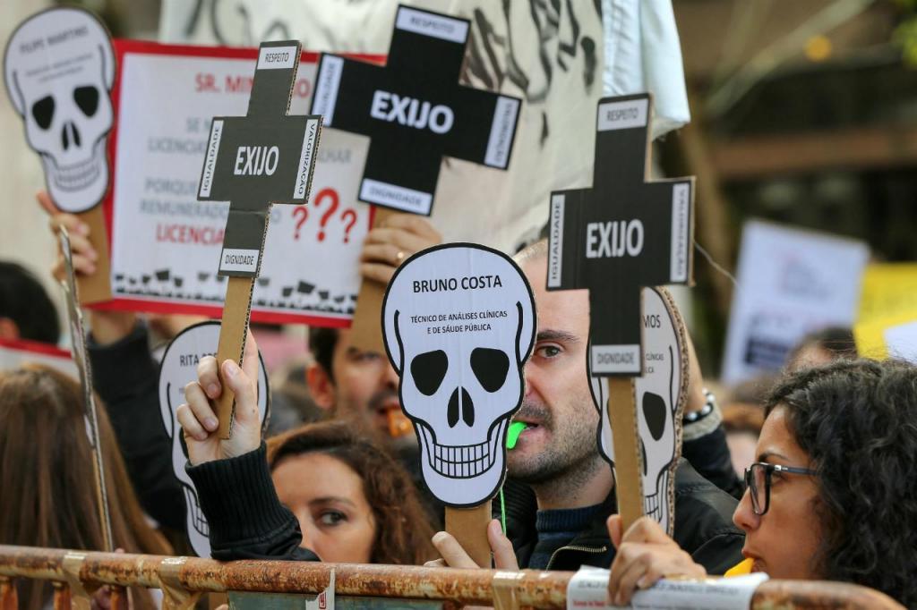 Protesto de técnicos de diagnóstico (arquivo)