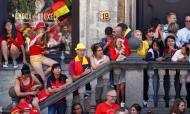 Diabos recebidos em festa em Bruxelas
