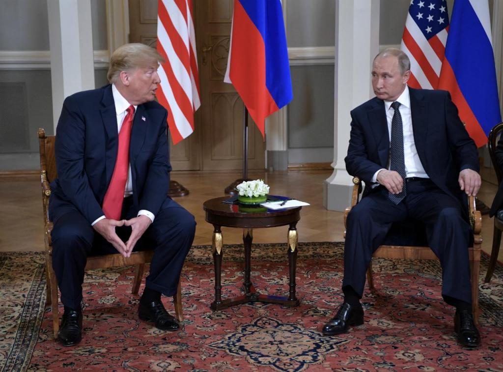 Donald Trump e Vladimir Putin - Cimeira de Helsínquia