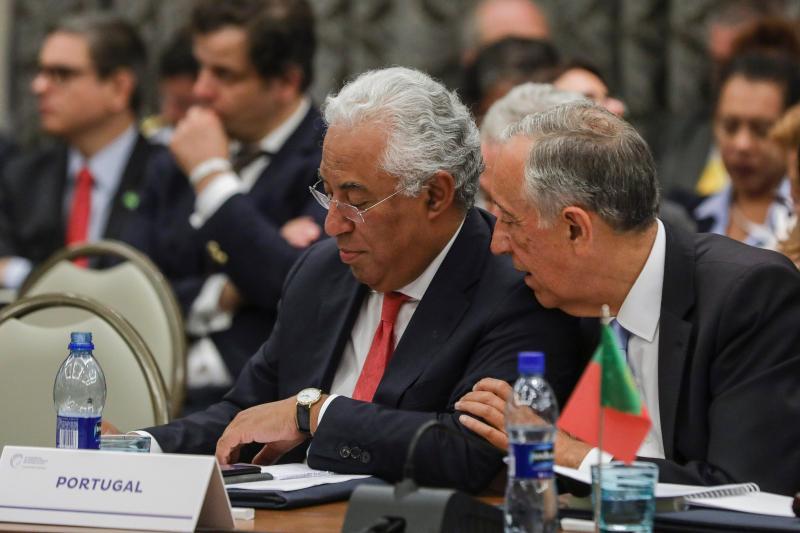 António Costa e Marcelo Rebelo de Sousa - Cimeira da CPLP em Cabo Verde