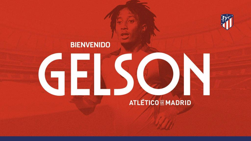 Gelson Martins no Atletico Madrid (Foto Twitter At. Madrid)