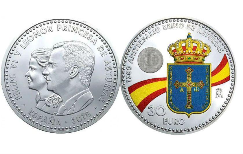 Moeda comemorativa Leonor e Felipe VI