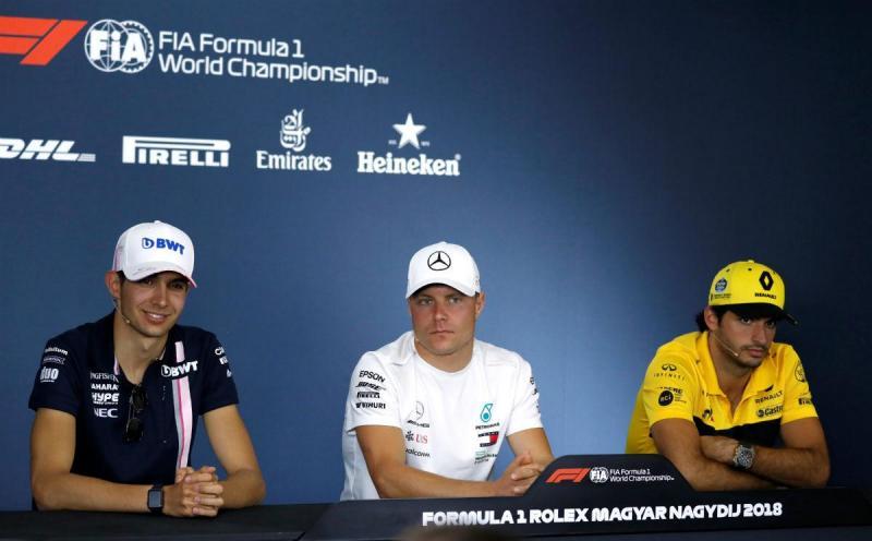 Esteban Ocon, Valtteri Bottas e Carlos Sainz Jr. (Reuters)