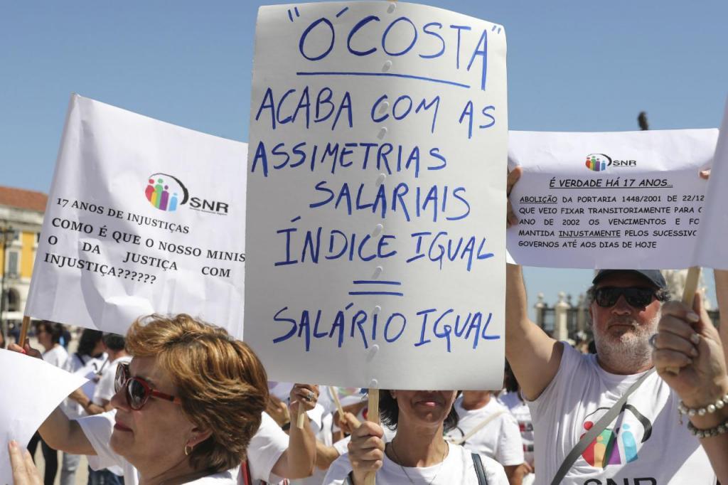 Manifestação de trabalhadores dos Registos e Notariado