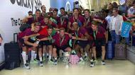 A chegada da Seleção sub-19 ao Aeroporto de Lisboa