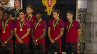 Campeões em Belém: «Vocês são o futuro»